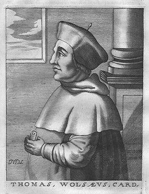 1695 - Thomas Wolsey Cardinal Archbishop Portrait Kupferstich engraving gravure