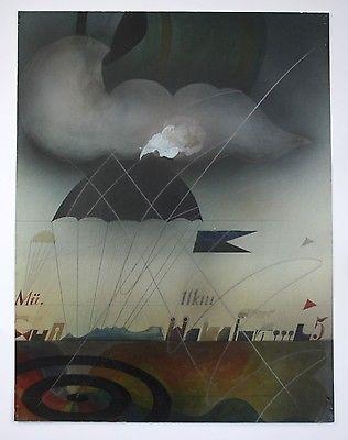 Alois Janak - Original Gemälde - painting watercolor Aquarell