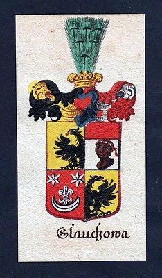 18. Jh - Glauckowa Glaukowa Böhmen Wappen coat of arms Manuskript