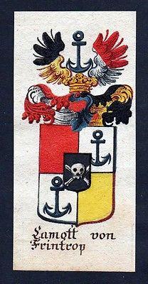 18. Jh - Lamott von Frintrop Böhmen Wappen coat of arms Manuskript