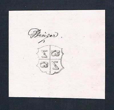18. Jh. Winzer Handschrift Manuskript Wappen manuscript coat of arms