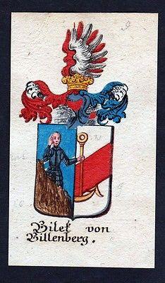 18. Jh - Bilek von Billenberg Böhmen Wappen coat of arms Manuskript