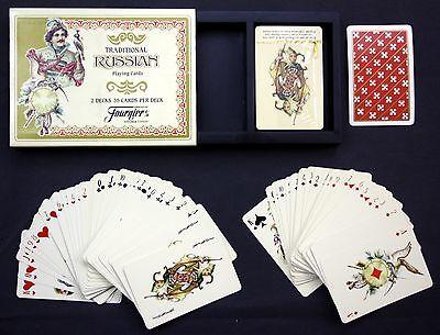 Russian Playing Cards / Fournier Kartenspiel Spielkarten jeu des cartes