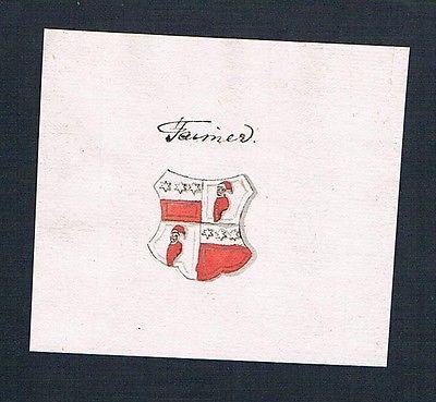 18. Jh. Taimer Theumer Handschrift Manuskript Wappen manuscript coat of arms