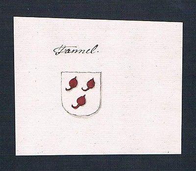 18. Jh. Tanner Tannel Handschrift Manuskript Wappen manuscript coat of arms