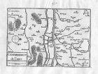 Ca. 1630 Tours Indre-et-Loire Frankreich France gravure carte Kupferstich Tassin