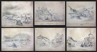 1841 Auguste Caron 1806 - sketch book 46 original drawings dessins signed signee 4