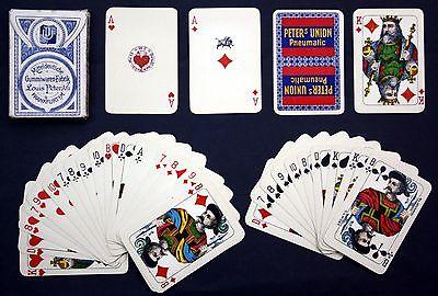 1919 Wüst Frankfurt Spielkarten Peter Union Reklame Kartenspiel playing cards