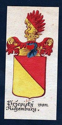 18. Jh - Przepisky von Richemburg Böhmen Wappen coat of arms Manuskript