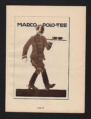 1925 Ludwig Hohlwein Reklame Werbung Plakat Marco Polo Tee Rotes Kreuz Sammlung