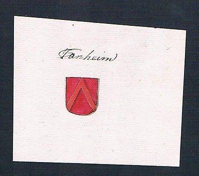 18. Jh. Tannheim Handschrift Manuskript Wappen manuscript coat of arms
