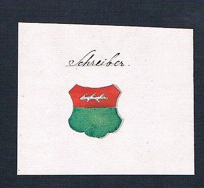 18. Jh. Schreiber Handschrift Manuskript Familien Wappen manuscript coat of arms