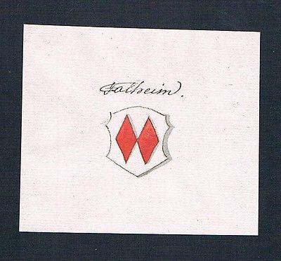 18. Jh. Talheim Talhaim Handschrift Manuskript Wappen manuscript coat of arms