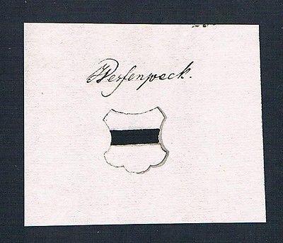 18. Jh. Wessenpeck Handschrift Manuskript Wappen manuscript coat of arms