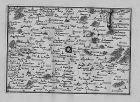 1680- Bapaume Bucquoy Combles Hermies - Kupferstich Beaulieu Karte map
