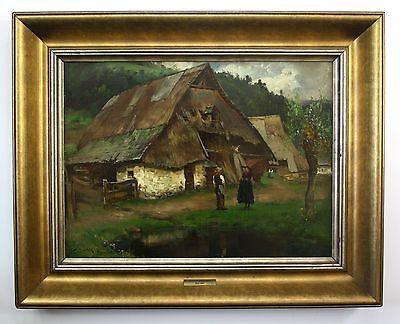 Josef Wopfner Gemälde Sarntheim signiert Ölgemälde Chiemsee painting signed 0