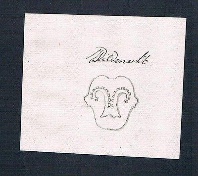 18. Jh. Wildeneck Handschrift Manuskript Wappen manuscript coat of arms
