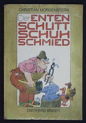 1983 - Der Entenschlittschuhschmied Morgenstern Eberhard Binder Bilderbuch