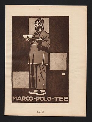 1925 - Ludwig Hohlwein Reklame Werbung Plakate Marco Polo Tee Sporting Tailor