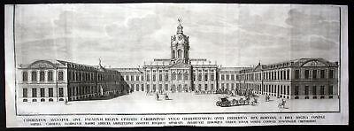 1718 Schloss Charlottenburg Berlin Panorama Ansicht Kupferstich antique print