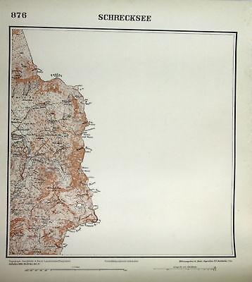 1935 Schrecksee Ponten Kugel-Horn Rauh-Horn Lahner-Kopf Kasten-K. 1:25000 Karte