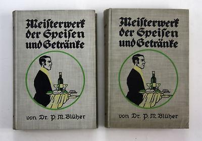 1910 R. Blüher Meisterwerk der Speisen und Getränke Speisen Kochbuch Wörterbuch