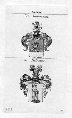 Von Hosemann / Von Hossauer / Bayern - Wappen coat of arms Heraldik heraldry Kup