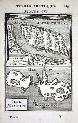 1685 Beringmeer Isle Maurice Mer Moscovie Russia Kuperstich engraving Karte map
