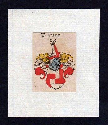 17. Jh Tale Wappen coat of arms heraldry Heraldik Kupferstich