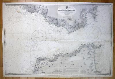 1953 Strait of Gibraltar Spanien Spain Morocco map