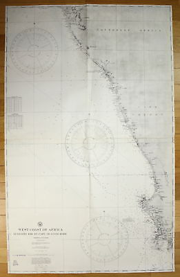 1925 West Coast of Africa - Lüderitz Bay to Cape of Good Hope map Nr ...