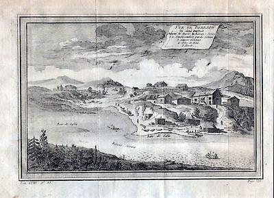 1750 Beresow Russia Soswa Ansicht view Russland Kupferstich antique print