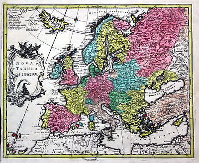 World map America Asia Europe Africa continents set of 5 maps chart Kilian 3