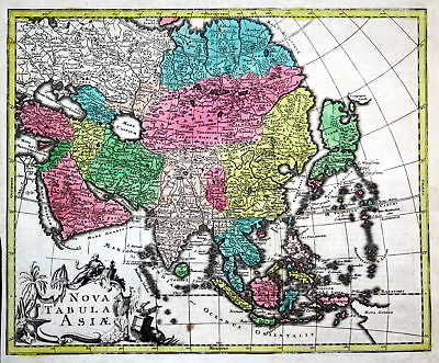 World map America Asia Europe Africa continents set of 5 maps chart Kilian 4
