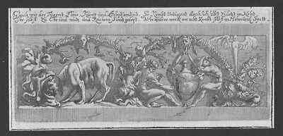 Menschen human Mann man angel Rahmen frame etching Kupferstich antique print 0