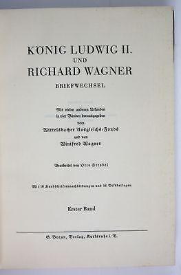 Otto Strobel König Ludwig II Richard Wagner Briefwechsel Urkunde