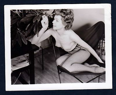 1960 Unterwäsche lingerie Erotik nude vintage Dessous pin up Foto photo Pflanze