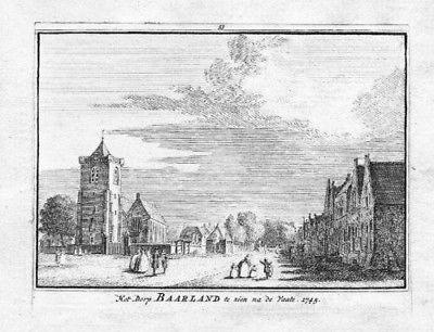 1750 - Baarland Borsele Zeeland Holland Kupferstich engraving gravure 83794