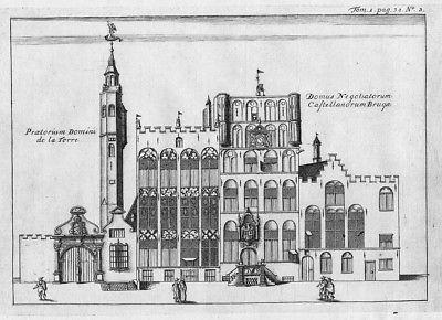 1735 - Brugge Bruges Flanders Kupferstich gravure engraving map carte 86696