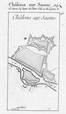 1770 - Chalon-sur-Saône gravure estampe Kupferstich engraving