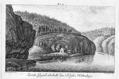 1780 - Kelheim Kloster Weltenburg Donau Kupfer Gignoux 50220