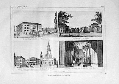 1835 - Dresden Ansichten Original Lithographie engraving 56104