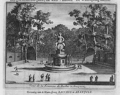 1707  - Aranjuez Garden grabado Espana 104067