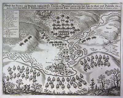 1645 Bresnitz  Brzeznica Polska Poland Ansicht Kupferstich antique print  148815