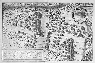 Ca. 1645 Schweidnitz Swidnica Polska battle Ansicht Kupferstich antique p 148825