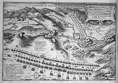 1645 Saalfeld Saale Schlacht Belagerung Ansicht Kupferstich antique print 148812