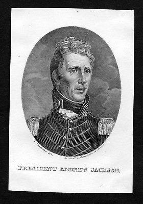 19. Jh. Andrew Jackson President United States of America Portrait engraving