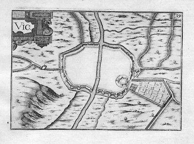 1630 - Moyenvic Vic Moselle Lorraine Gravure