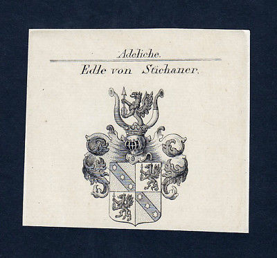 1820 Joseph Stichaner Stierle Wappen Adel coat of arms Kupferstich engraving