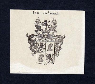 1820 Schmuck Wappen Adel coat of arms heraldry Heraldik Kupferstich engraving